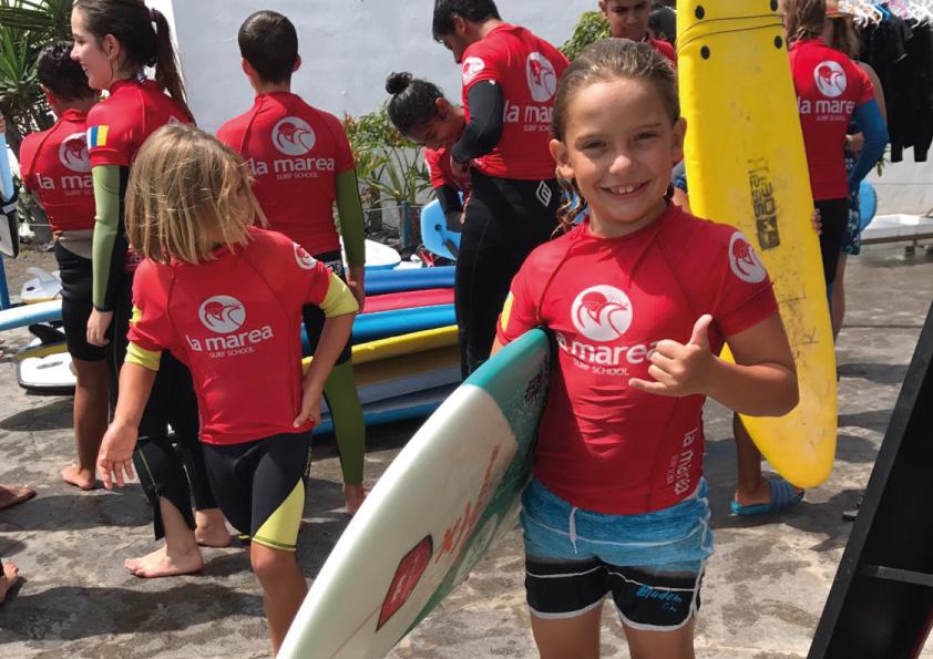 Beneficios del surf en los niños