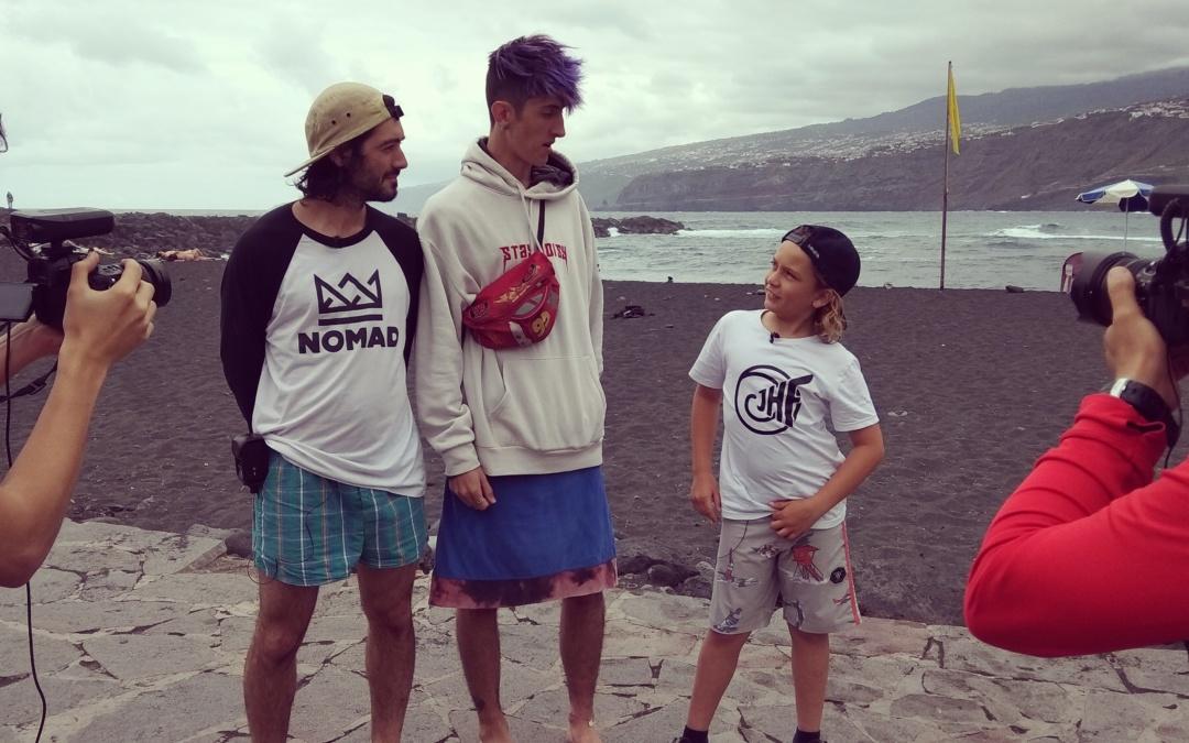 Primera clase de surf con Sergio Lucea y Óscar Jiménez